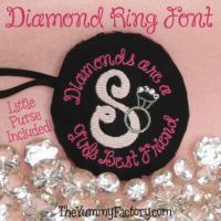 Diamond Ring Font with Purse