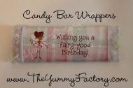 Fairy Birthday Candy Bar Wrapper