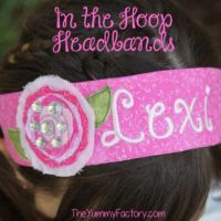 Headbands with flowers